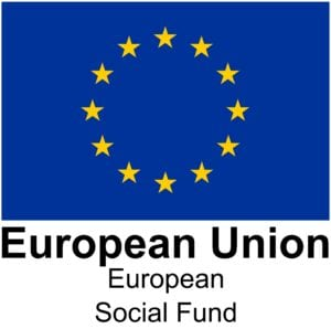 ESF Logo - Yellow stars in circle on blue background