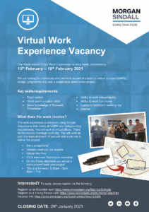 Morgan Sindall Work Experience Flyer