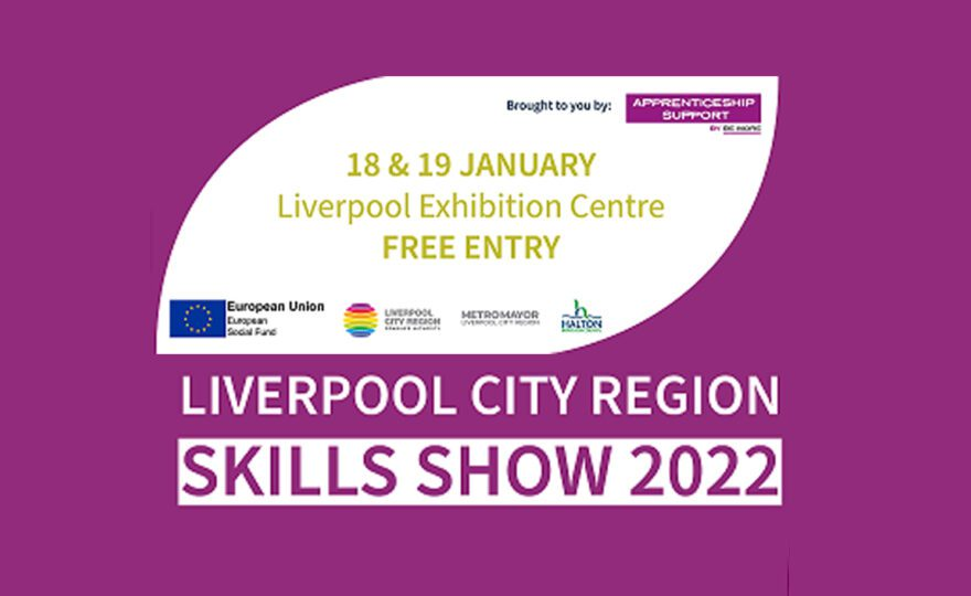 SKILLS SHOW ADVERT PURPLE WITH WHITE TEXT